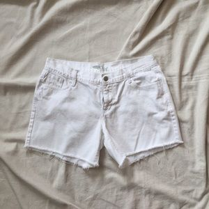 White Cut-Off Shorts